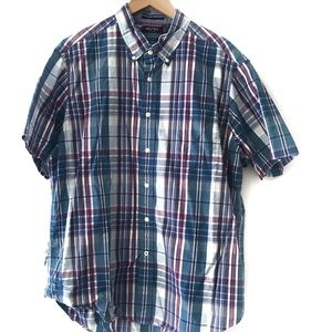 Nautica shortsleeved button Down plaid size XL
